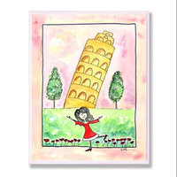 The Kids Room Wall Plaque - Girl in Italy