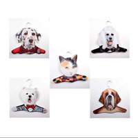 Stupell Industries Animal Dalmation / Poodle / Calico Cat / Westie / St. Bernard Clothing Hanger (Set of 5)