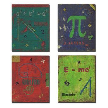 Stupell Industries Kids Room Distressed Math Symbols Wall Plaques (Set of 4)