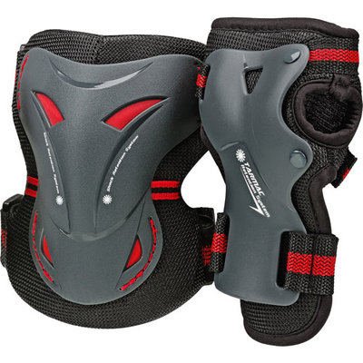 Roller Derby Skate Corp. Tarmac Knee and Wrist Guards Combo Pack, Youth