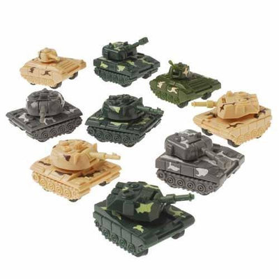 US Toy Company 1081 Pull Back Tanks