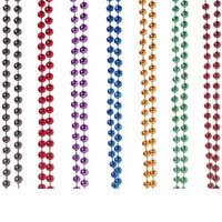 Us Toy Group Purple Metallic 6mm Bead Necklaces