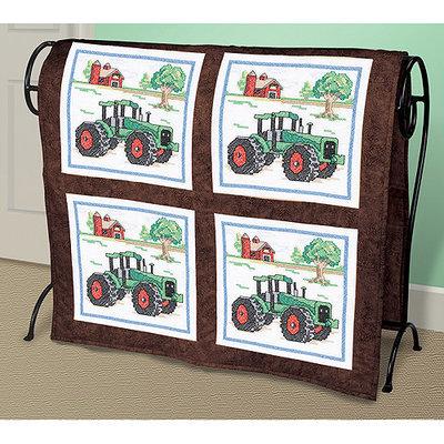 Janlynn NOTM051305 - Tractor Stamped Cross Stitch Quilt Blocks