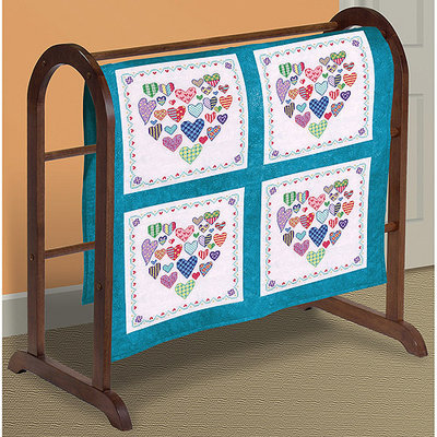 Janlynn Heart Filled W/Hearts Quilt Blocks Stamped Cross Stitch-18