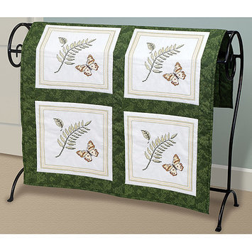 JANLYNN-Fern And Butterfly Quilt Blocks Stamped Cross Stitch