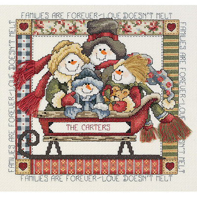 JANLYNN-Families Are Forever Counted Cross Stitch Kit-9