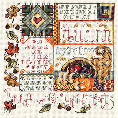 Janlynn Autumn Counted Cross Stitch Kit-9-1/4