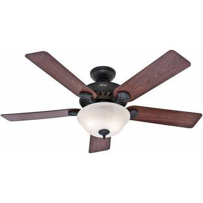 Hunter Fan Company 53250 Pro's Best Five Minute 52-Inch Ceiling Fan with Five Dark Cherry/Medium Oak Blades and Swirled