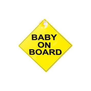 Prime Line Prime-Line S 4729 5 in. Yellow Baby On Board Car Window Sign Pack of 6