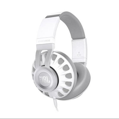 JBL Synchros S700 Over-Ear Headphones with In-Line Controls and Mic (White)