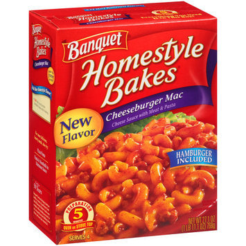 Banquet Homestyle Bakes Cheeseburger Mac, 27.1 oz
