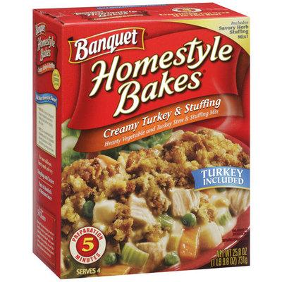 Banquet Homestyle Bakes Creamy Turkey & Stuffing, 25.8 oz