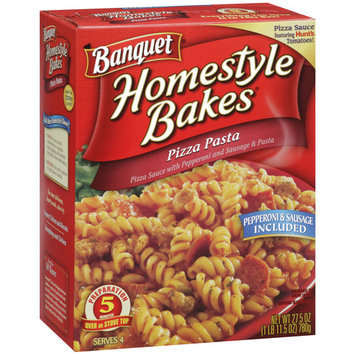 Banquet Homestyle Bakes Pizza Pasta, 27.5 oz