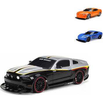 New Bright 1:10 Radio Control Full-Function 6.4V, in colors Black, Blue, or Orange