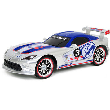 New Bright 1:16 Radio-Control Full-Function Dodge Viper GTS-R, Silver