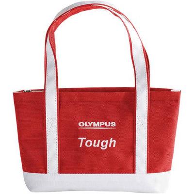 Olympus Small Tough Beach Bag, Red/White