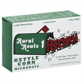 Rural Route 7.5 oz. Kettle Corn Popcorn Pack - 3 Case Of 6