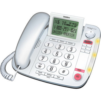Uniden CEZ260W Big Button Desktop Corded Caller ID Phone