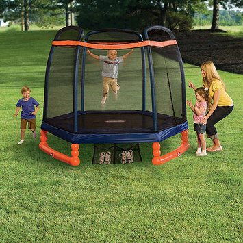 Little Tikes 7' First Trampoline with Safety Enclosure