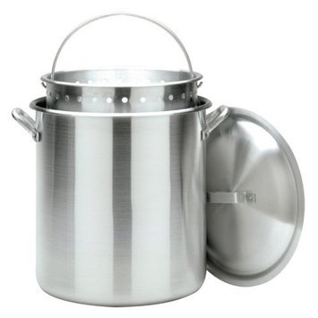 Bayou Classic 160 - qt. StockPot with Lid and Basket