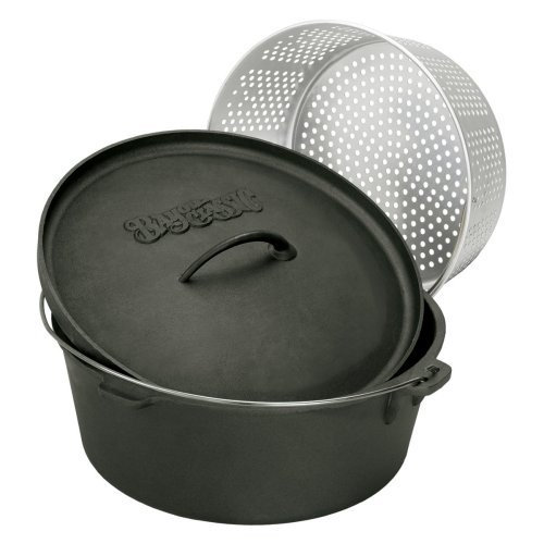 Barbour 7420 Bayou Classic 20 Quart Dutch Oven With Lid And Basket