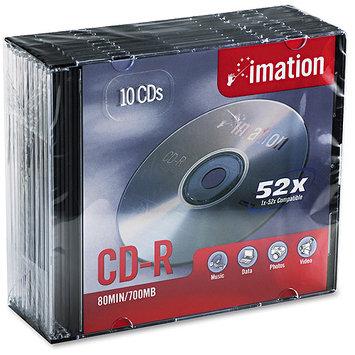 Imation Corporation Imation CD-R 700MB/80MIN 52x Jewel 10-Pack 17332