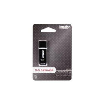Imation 16GB USB 2.0 Flash Drive - 16GB - Cool Black (30457)