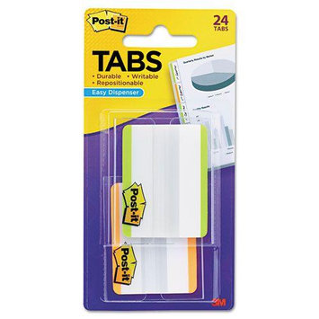 3M Index Tabs and Dividers Durable File Tabs, 2 x 1 1/2, Striped