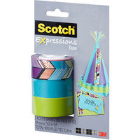 3m C2143PK4 Expressions Magic Tape 3/4 X 300 Assorted Tribal 3 Pack