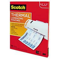 3M TP3854-100 Letter size thermal laminating pouches, 3 mil, 11 1/2 x 9, 100 per pack
