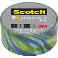 Scotch(R) Expressions Tape, 3/4in. x 300in, Tropic Wave