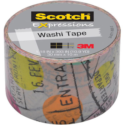 Scotch Expressions Washi Tape, 1.18 x 393, Travel