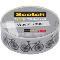 Scotch Expressions Washi Tape, .59 x 393, Bikes