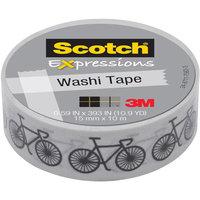 Scotch Expressions Washi Tape, .59 x 393, Bikes