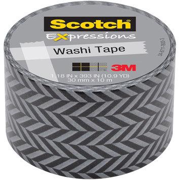 Scotch Expressions Washi Tape, 1.18 x 393, Zig Zag
