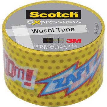 Scotch Expressions Washi Tape, 1.18 x 393, POW!