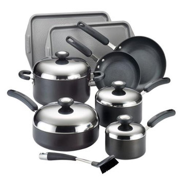 Meyer Corporation Circulon Total Hard Anodized Nonstick 13-piece Black Cookware Set