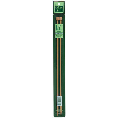 Clover Bamboo Single Point Knitting Needles 13