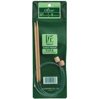 Clover 20-Inch Bamboo Flexible Knitting Needles 6