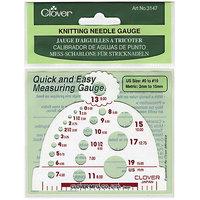 Clover 75014 Knitting Needle GaugeMeasures Sizes 019