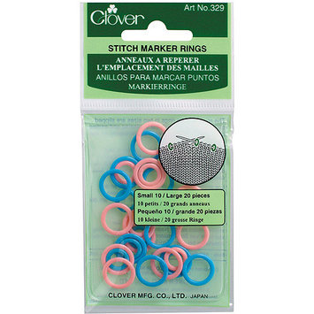 Clover Stitch Marker Rings, .5
