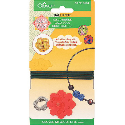 Clover Asian Knot Templates, Ball Knot