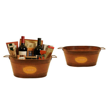 Wald Imports 3632 14 in. Oval Metal Container