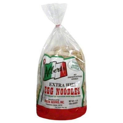 Albertos Extra Wide Egg Noodles Pasta, 1 lb, - Pack of 12