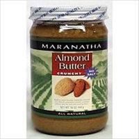 MARANATHA NATURAL FOODS Org Roasted Crunchy Almond Butter No Salt 16 OZ