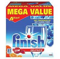 Finish Dishwasher Detergent Dish Detergent Gel Packs, Orange