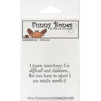 NOTM338010 - Riley & Company Funny Bones Cling Mounted Stamp 2.5