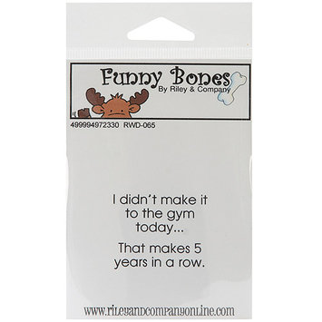 NOTM497233 - Riley & Company Funny Bones Cling Mounted Stamp 1.75