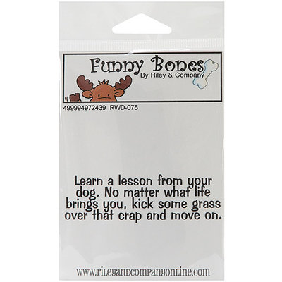 NOTM497243 - Riley & Company Funny Bones Cling Mounted Stamp 3