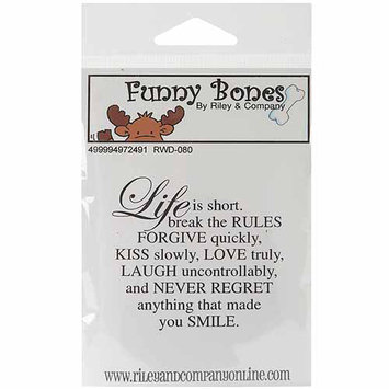 NOTM497249 - Riley & Company Funny Bones Cling Mounted Stamp 2.5